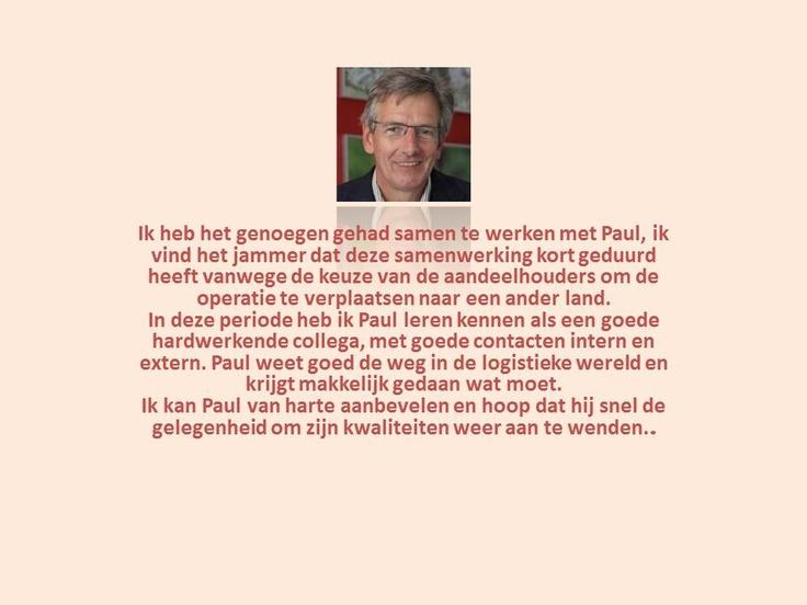 Recommendation: 7 februari 2012, Dirk van Mourik gaf leiding aan Paul van den Hengel bij Berghaus Fashion Group