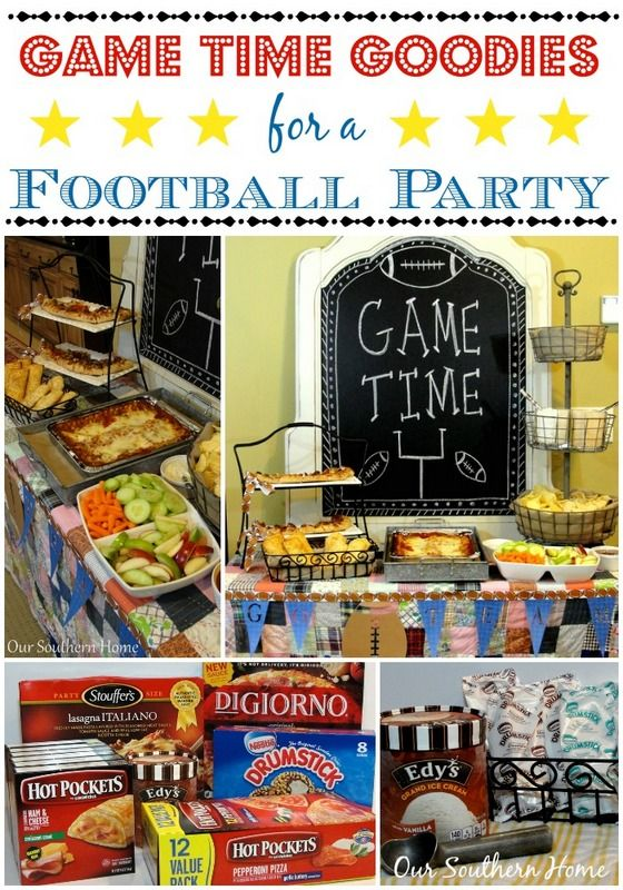 Game Time Goodies for a Football Party from Our Southern Home! #football #FootballPartyIdeas #GameTime #GameTimeGoodies #shop #Cbias
