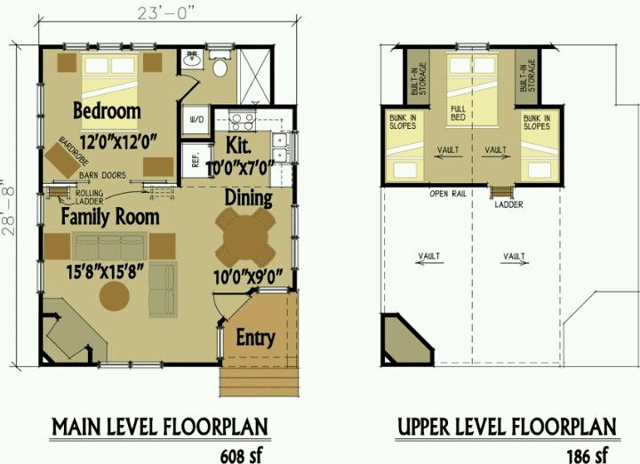 We are looking for more like a 20 X 20 plan but I like the idea of the loft.  We could probably squeeze this down to a 20 X 20.