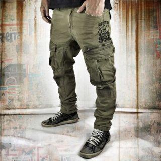 Yakuza Industrial Cargo Pants CPB 8041 stone gray pánske nohavice
