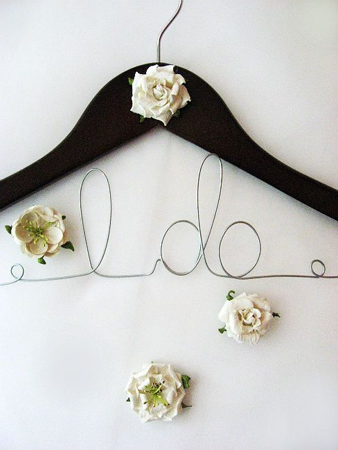 17 best images about for the bride groom on pinterest for Personalized wire wedding dress hanger