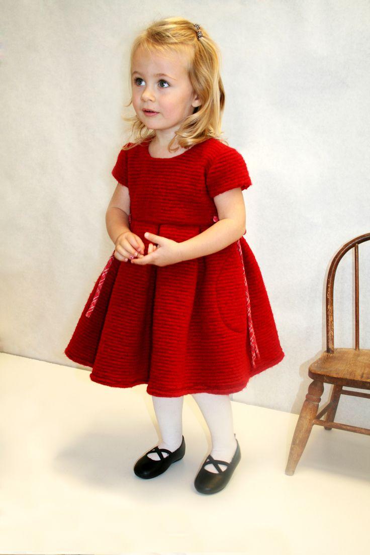 Where is Santa? Isabel Carretón Collection  http://isabelgarreton.com/woolen-pleats-girls-dress-and-plaid-waist-tie/