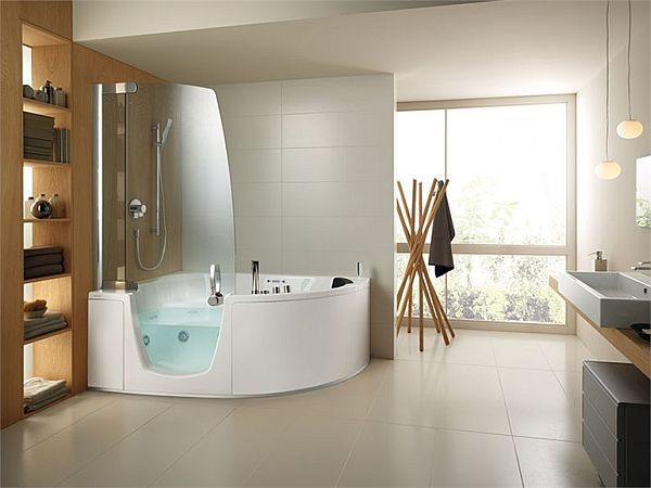 The shower tub combo65 best Shower   tub re do images on Pinterest   Bathroom ideas  . Walk In Tub With Shower Enclosure. Home Design Ideas