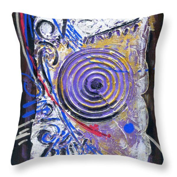Throw Pillow featuring the painting Life Of Circle - II by Rupam Shah
