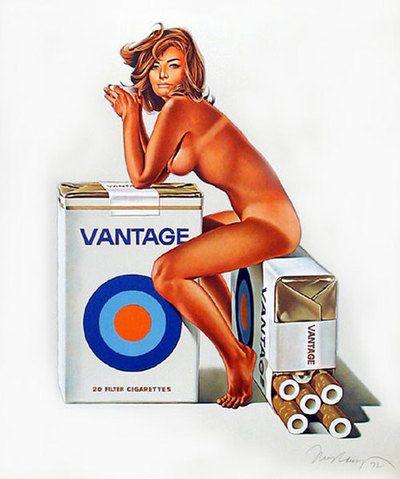 retro cigarette ad