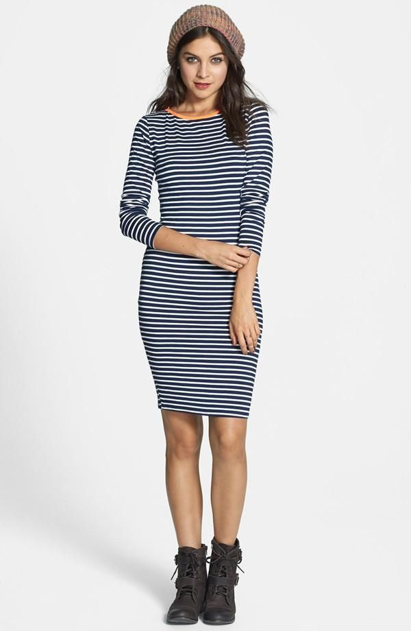 Navy & white stripe dress  personal style  Pinterest