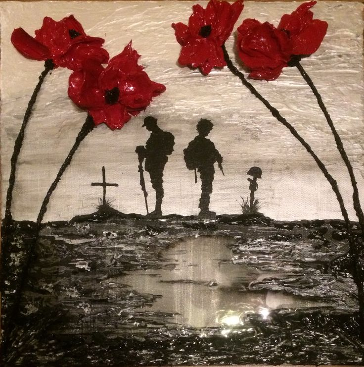 Remembrance Day picture Commemorative art from Jacqueline Hurley The War Poppy Collection