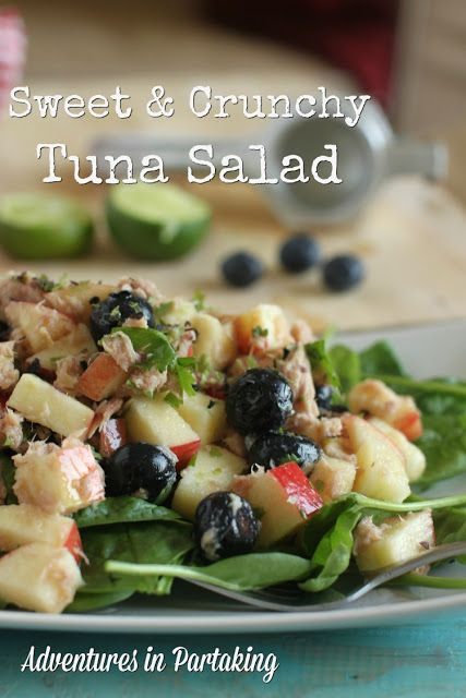 This is my all time favorite tuna salad... it's packed with flavor, filing and great for packed lunches. Add a few plantain chips for a complete meal.
