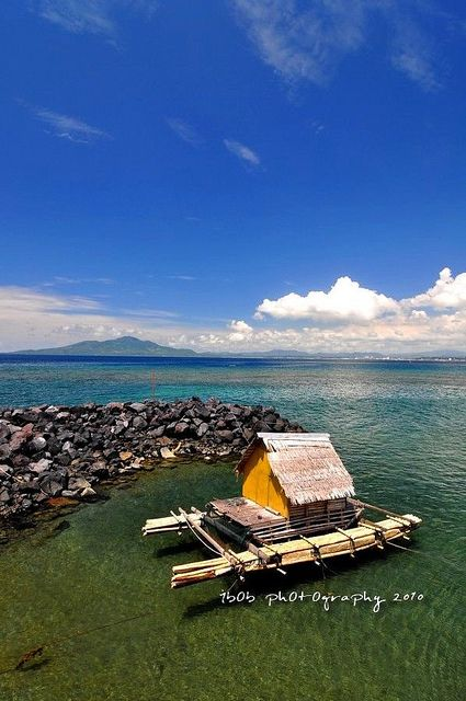 Landscape of Manado Beach at Manado, Indonesia