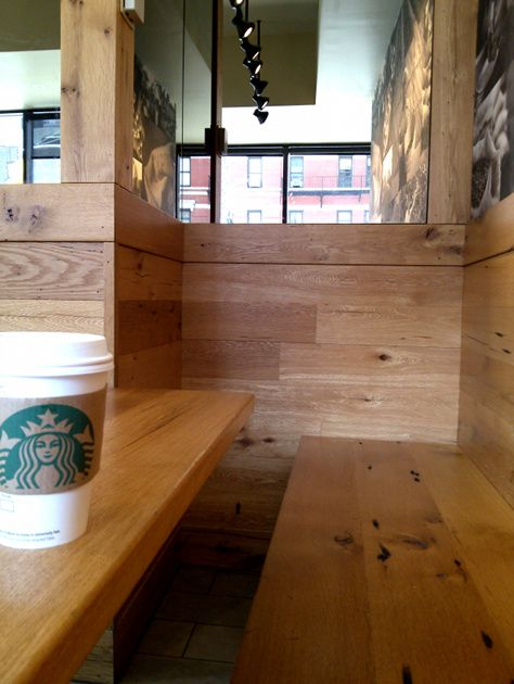 A Nyc Coffee Shop Benches And Surrounds Were Created With