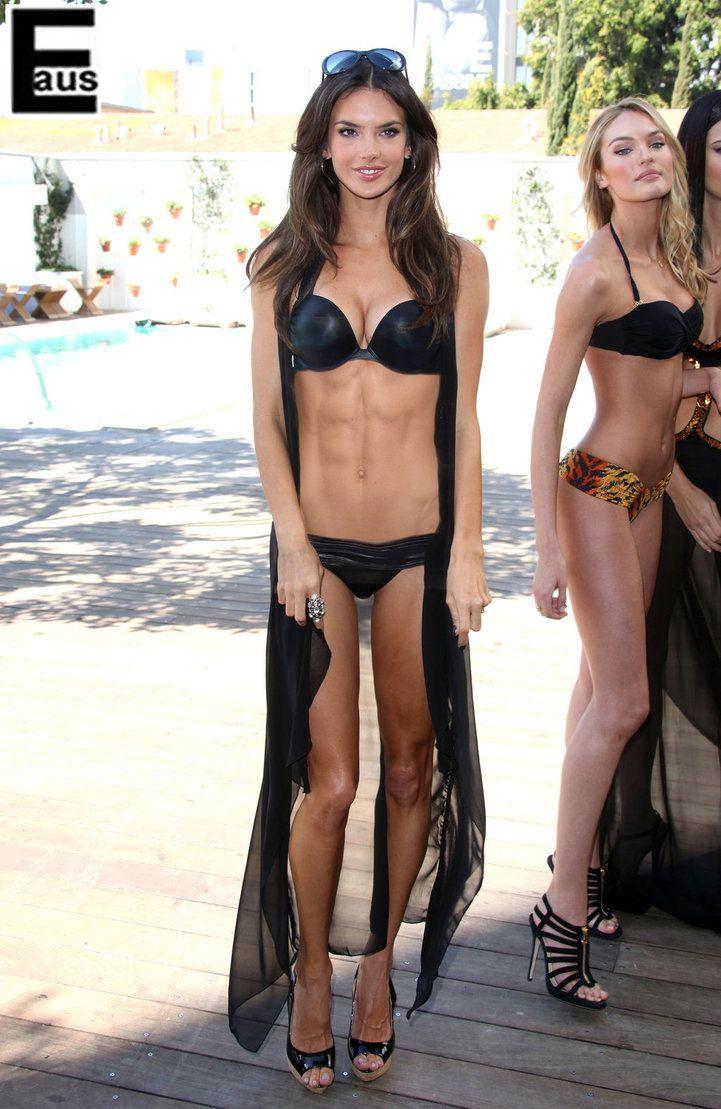 Alessandra Ambrosio. OMG. Her abs!! Wanna look like her!!! \u003c3 ...