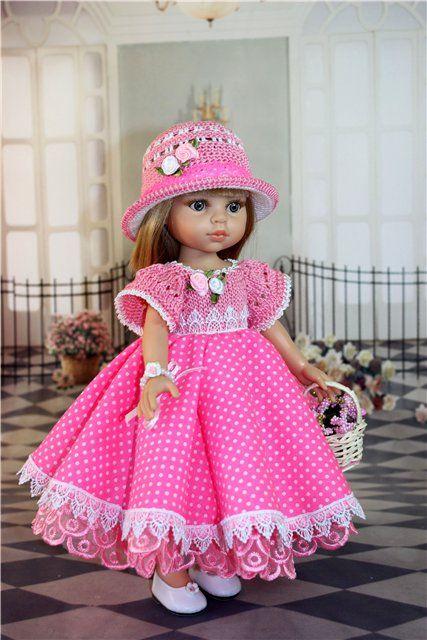 """Наряд для куклы 30 - 33 см. """"Розовый в горошек"""" / Одежда для кукол / Шопик. Продать купить куклу / Бэйбики. Куклы фото. Одежда для кукол"""