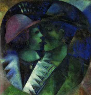 Marc Chagall, Gli innamorati in verde, 1915,
