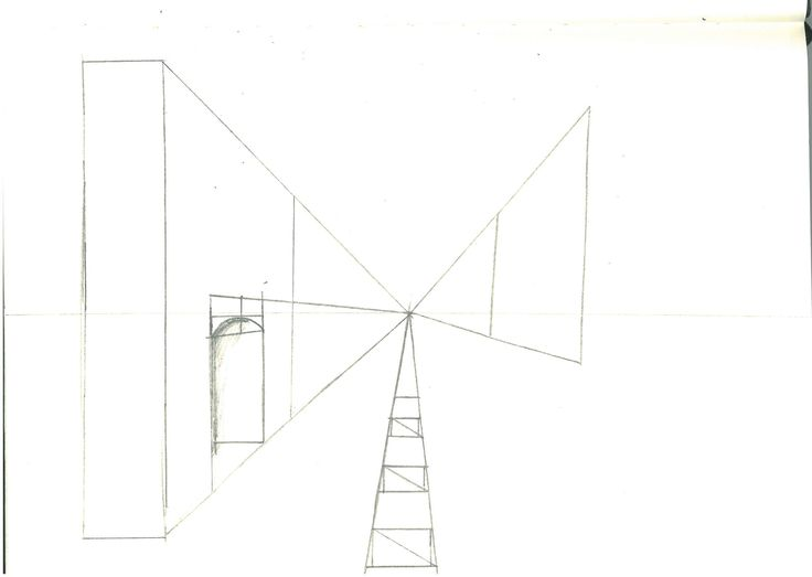 Page 7: 1 Point Perspective Building