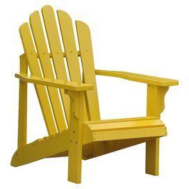 Westport Adirondack Chair in Lemon Yellow