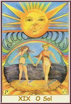 19. O Sol, no Tarot Namur, desenhado por Martha Leyrós