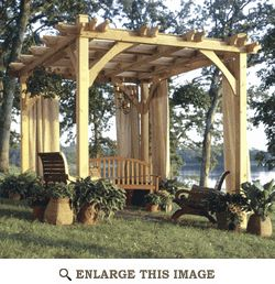 """purchase/download plans for """"Build-to-Suit Pergola"""". Can increase or decrease its dimensions as needed."""