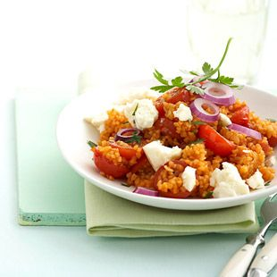 Tomaten-Bulgur mit Feta - Essen und Trinken