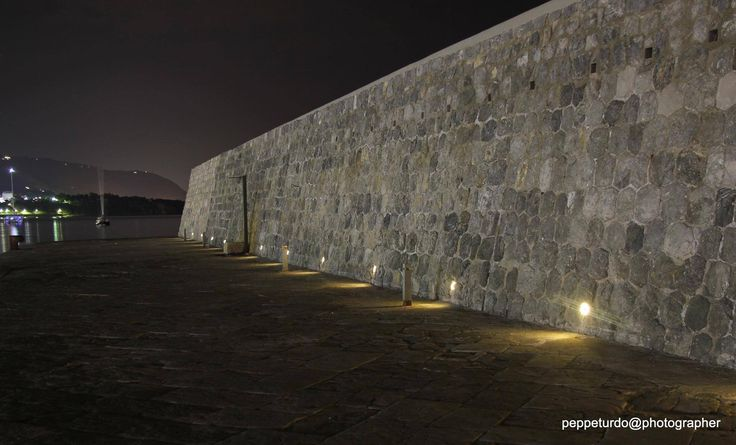 Cefalù's pier - The City of Cefalù chose led lights solar charged by GECOLUCE to illuminate its Sicilian pier with GECO CIRCLE model hot white.