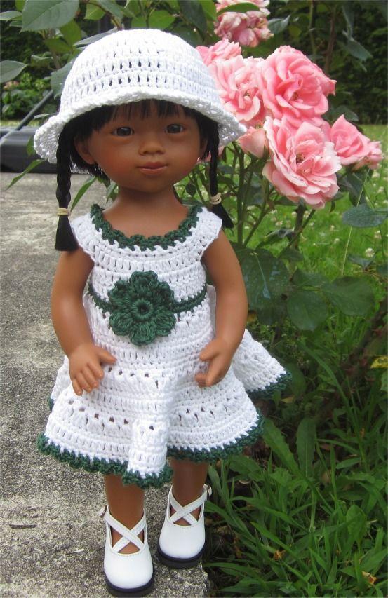 93- FICHE PATRON CROCHET Tenue Maeva pour poupée Marietta D'Nenes : Jeux, jouets par atelier-crochet