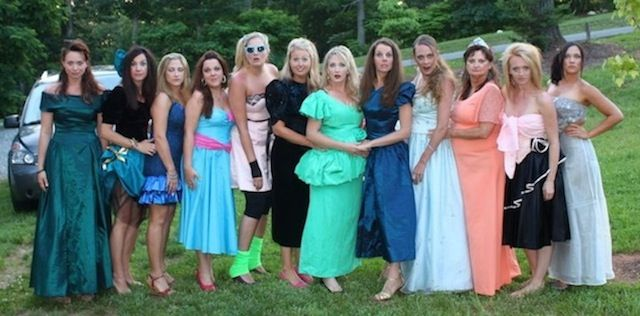 Ugly bridesmaids dresses for bachorlette party. This would be a blast