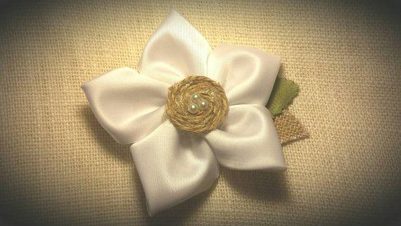 Rustic Bridal Hair Piece / Silk Flower Hair by BootsAndDirtRoads
