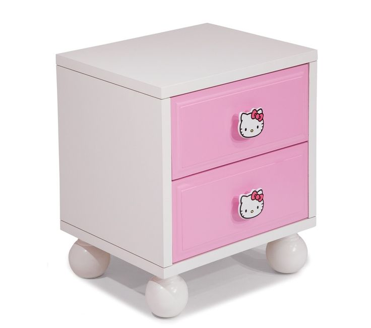 Maybe get some plain white pulls to paint face on? Good colors to repaint her current dresser!  Maybe add a big bow??