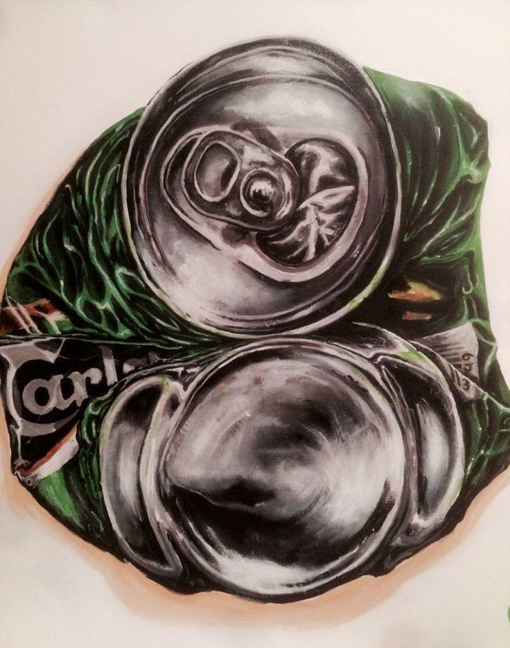 """Carlsberg"" Acrylic on canvas 50x50 www.ricasso.se"