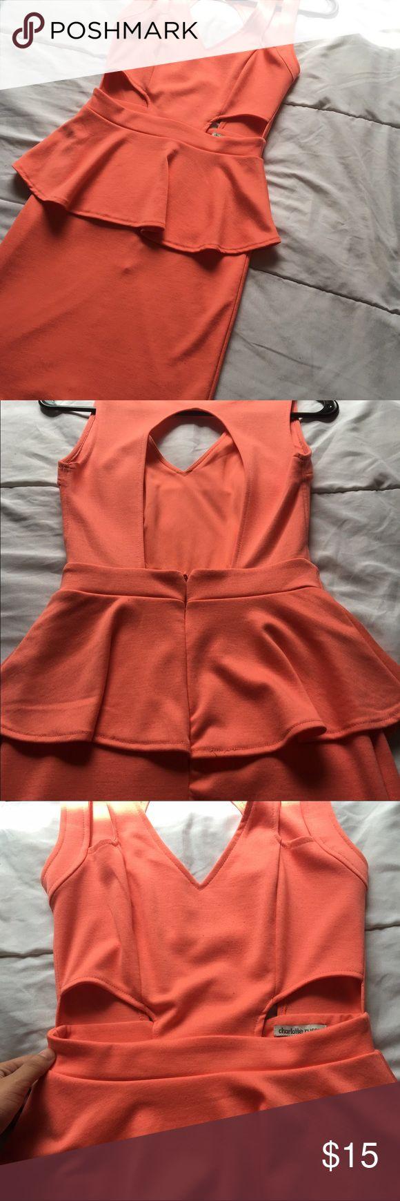 Coral sexy dress. Salmon Color ...