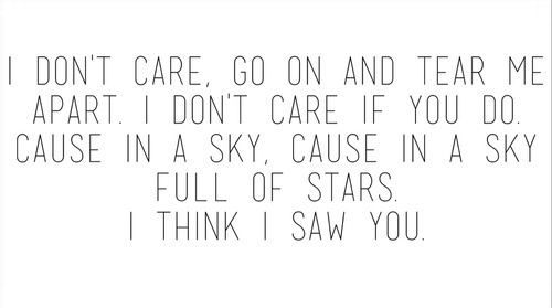 In a sky full of stars-Coldplay-ghost stories