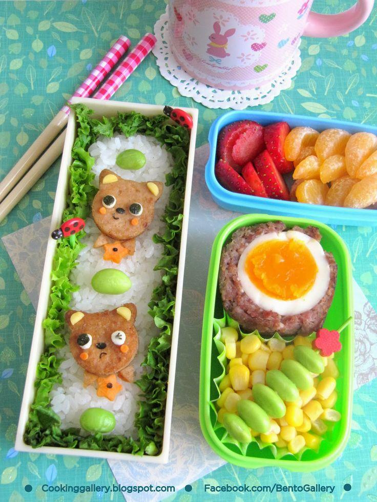 Cooking Gallery: Little Kitten Bento + Tutorial @Cooking Gallery