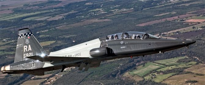 OVER LACKLAND AIR FORCE BASE, Texas -- A T-38 Talon participates in the 2004 Lackland Airfest. (U.S. Air Force photo by Master Sgt. Lance Cheung)