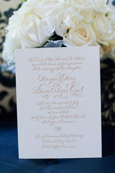 Letterpress Wedding Invitations from Bella Figura.