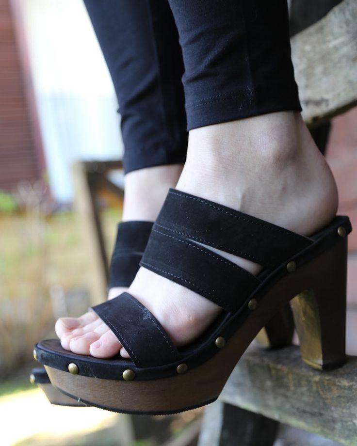 Milán Luisa - Oil Negro Kebba Shoes