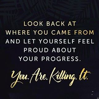 Thursday Thoughts! Be proud of your progress! Let it be your motivation to keep going! ✨