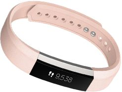 Fitbit Alta in Blush Pink Leather.