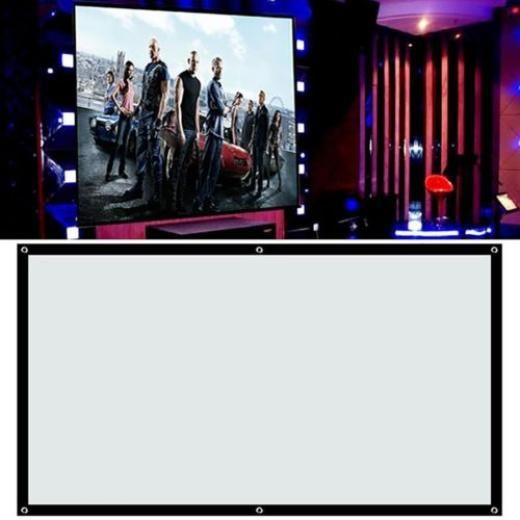 """100"""" Portable Projector Screen 16:9 4:3 Conference Presentation Hd Projection Be 16:9/4:3 ;16:9 Dlp Crt Lcd Uhd Hd 3d Matt White Main Control And Remote Yes Great Value Fabric Matte/inflatable/portable"""
