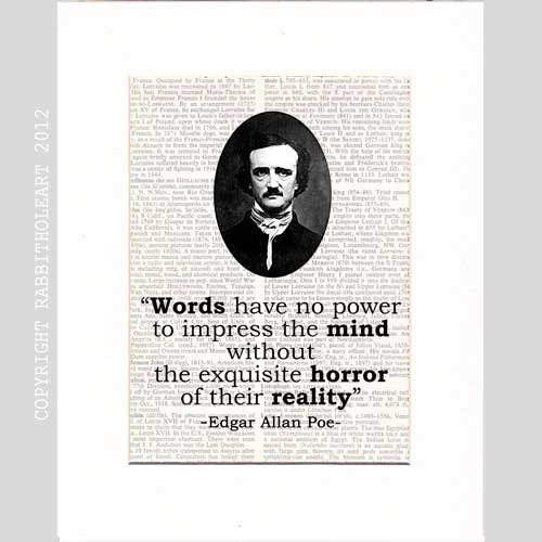 best edgar allen poe images edgar allan poe  edgar allan poe quote typography art print by rabbitholeart 9 95