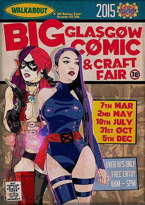 The Big Glasgow Comic Page presents a day of assorted geekery complete with 17 vendors selling back issues, graphic novels, original art, fan art, toys, t-shirts, jewellery, crafts, cupcakes and loads more. Cosplay/fancy dress encouraged with a…