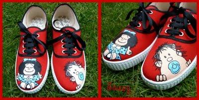 Sassy Things Complementos: Zapatillas Mafalda y Guille