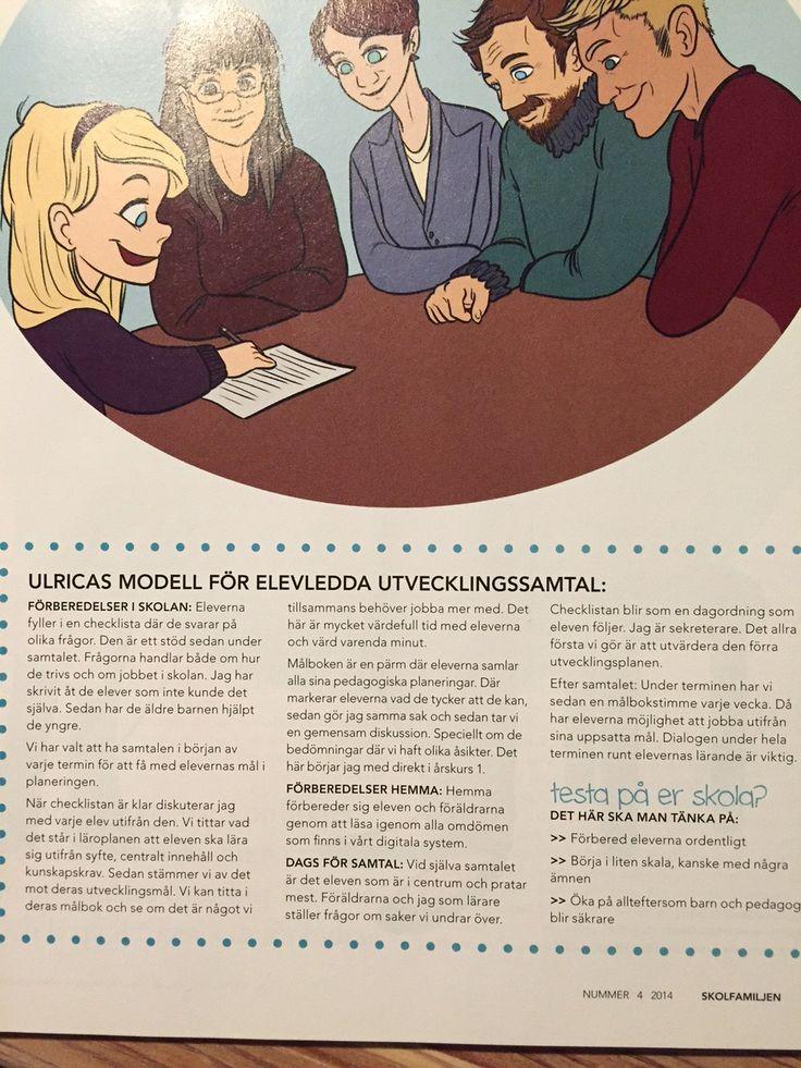 I augusti 2014 var det ett reportage i tidningen Skolfamiljen om hur jag jobbar med elevledda utvecklingssamtal.
