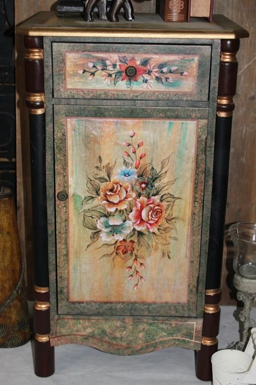 Hand Painted Curio Cabinets French Country Style Antique Furniture