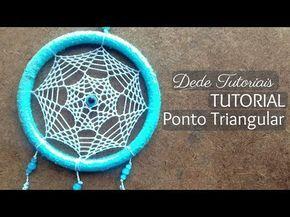 Tutorial tejido flor Atrapasueños - YouTube