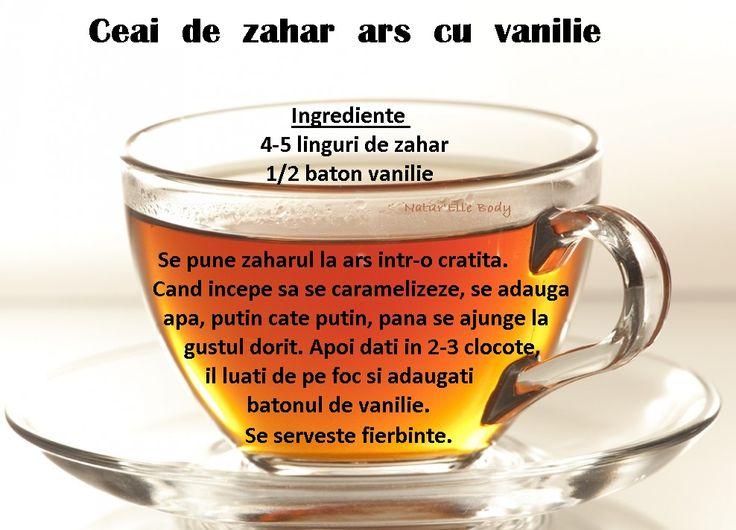 ceai de zahar ars cu vanilie