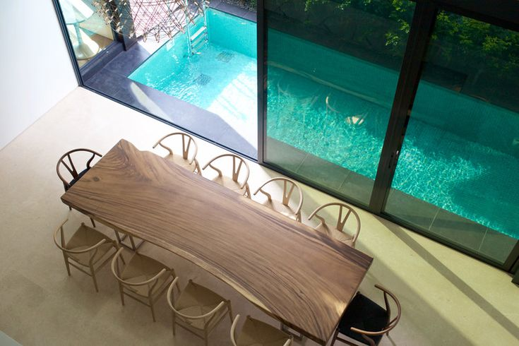 3 Meter Suar Table with Stainless Steel Frame Legs x Herman Furniture Singapore