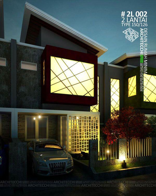 Desain rumah dengan konsep minimalis modern ini terdiri dari 2 lantai dengan space antara lain : Carport, teras+ruang tamu, ruang keluarga, ruang makan, ruang santai+baca, kitchen set pantry, 4 kamar tidur, 3 kamar mandi, tempat cuci & jemuran, taman depan & belakang. Dengan Luas Tanah = 126 m², Luas Bangunan = 150 m². Desain Rumah Siap Bangun Kode Desain = 2L002 #Arsitek #DesainRumah #MinimalisModern #Architecchi