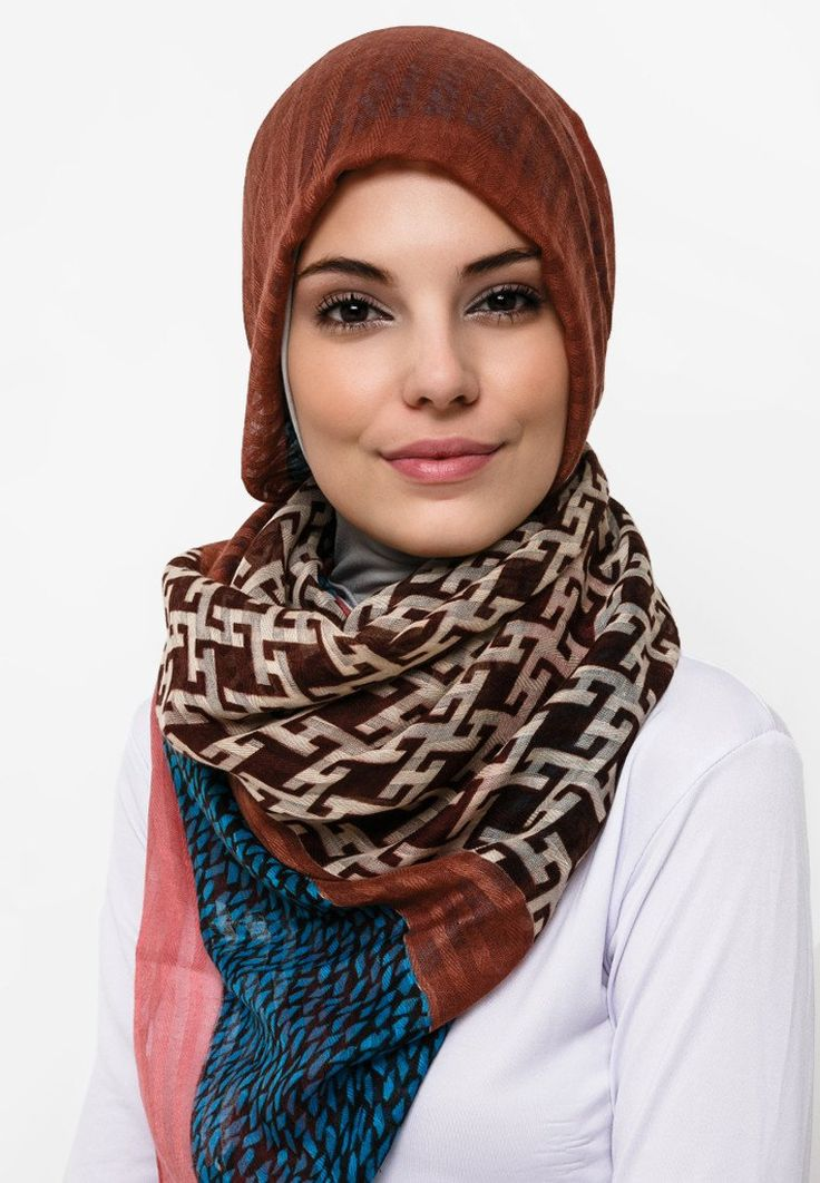Pashmina Voile Stripe Printed by KAPASH. Made from viscose, with combination of pink, brown, and grey print all over the pashmina, this pashmina look great with a cardigan and t-shirt, perfect for your casual look. http://www.zocko.com/z/JHxDO