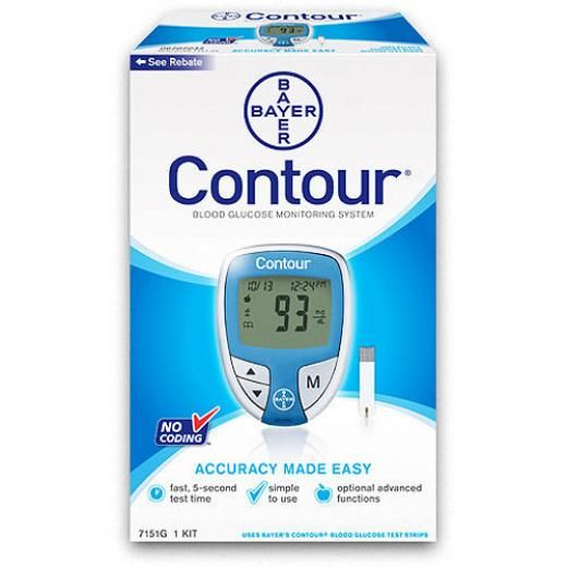 Bayer Contour Blood Glucose Monitoring System,no Coding Blue Color + 10 Strips Monitor Japan Meter No