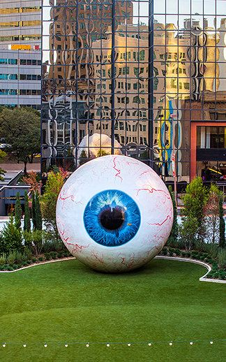 Eye, by multimedia artist Tony Tasset has been touring the country and is currently installed in Dallas.