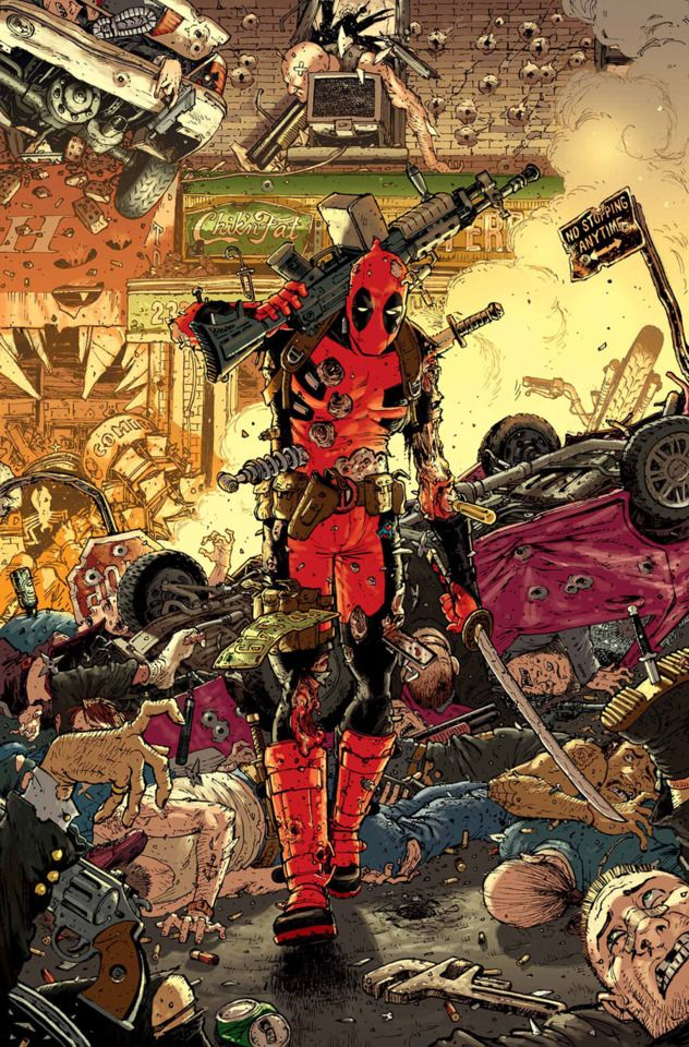 """Wade Wilson is a former test subject of the Weapon X program, possessing a regenerative healing factor and an unstable compiling of other """"Weapon X"""" experiments. Deadpool's powers and personality traits combine to make a wild, mentally unstable, and unpredictable mercenary. Deadpool has been a member of X-Force and the Thunderbolts, and a self-professed member of the X-Men and Avengers. The """"Merc with a Mouth"""" is infamous for breaking the fourth wall."""